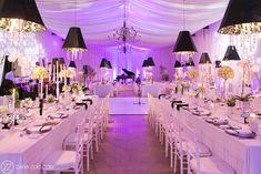 Wedding at Nooitgedacht Estate Farm Wedding, Wedding Table, Dream Wedding, Wedding Reception Decorations, Wedding Venues, Wedding Ideas, Black And White Theme, Wedding Gallery, Corporate Events