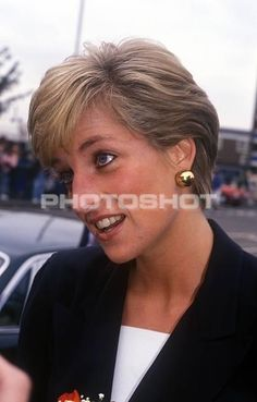 September 18, 1990: Princess Diana visiting Lord Cage Center in Newham, London