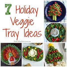 Holiday veggie trays