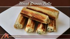 Bread Paneer Rolls Recipe  Bread, paneer, spices. mix together then grill