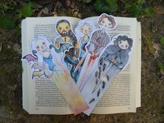 Game of Thrones Bookmark Watercolor Print by LisyCorner on Etsy-not a GOT fan, but I still think they're cool.