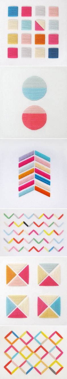 How cool is jane denton's geometric embroidery?! // Embroidery inspiration