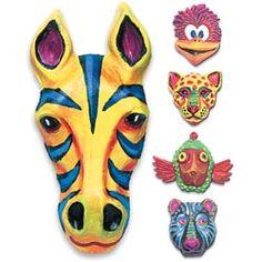 Art Project:  Paint some vibrant animal masks!