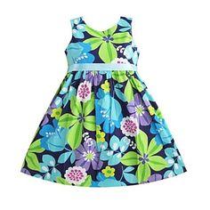 κόμμα μόδα μεγάλη ζώνη λουλούδι εκτύπωσης φορέματα παιδιά γενέθλια ενδυμάτων για κορίτσια – EUR € 13.00