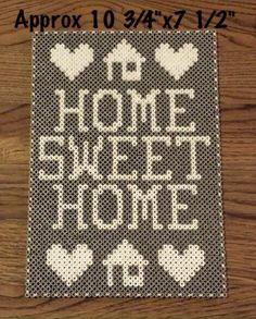 Home Sweet Home Sign $15 Colors are customizable #handmade #8bitart #8bit #forsale #walldecor #wallart #homesweethome #maperlerart #homesweethomesign