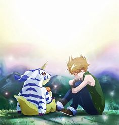 Digimon Adventure: Matt (Yamato) Ishida with Gabumon