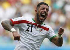 Ashkan Dejagah (Iran) Iran World Cup, Sport, Hero, Football, Youtube, Asian, Breakfast Nook, Soccer, Deporte