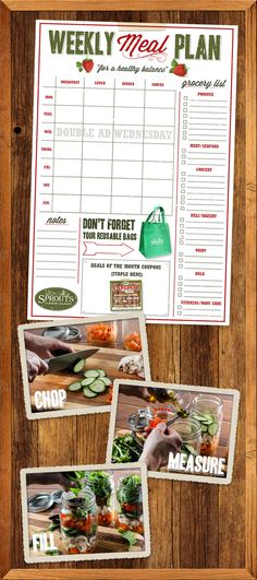 Set yourself up for success by planning and prepping your healthy meals and snacks in advance.  -  Sprouts Farmers Market