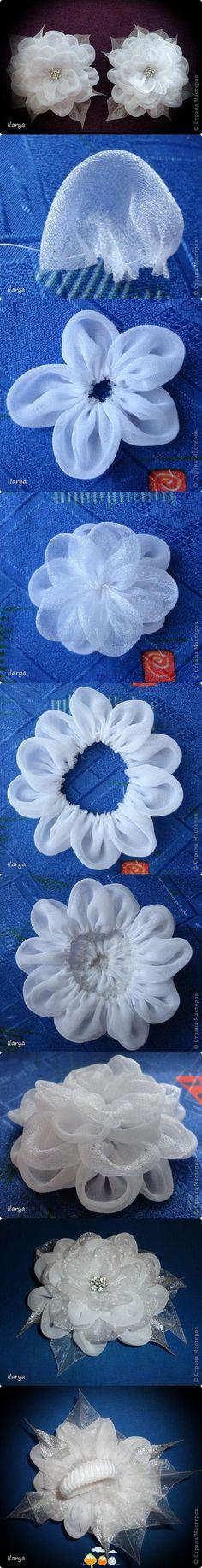 Sheer fabric flowers.                                                                                                                                                      More