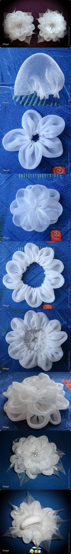 Sheer fabric flowers.                                                                                                                                                      More