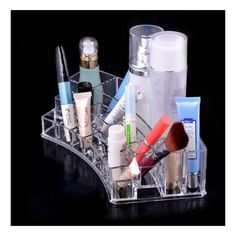 Clear Acrylic Makeup Cosmetics Jewelry Organizer Display Box Storage