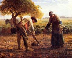 Recogiendo patatas MILLET
