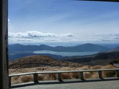 Lake Rotoaira and Taupo in the distance, from Ketetahi Hut