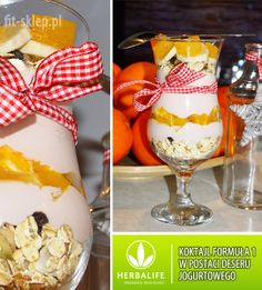 przykład wykonania koktajlu Herbalife na bazie jogurtu naturalnego (deser)