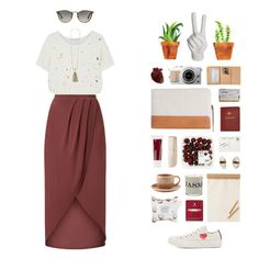 """lose my cool in the heat of goodbye"" by space-cadet ❤ liked on Polyvore featuring Kain, Zimmermann, Korres, Witchery, Blithe & Bonny, Toast, Persol, 3LAB, Louis Vuitton and Play Comme des Garçons"