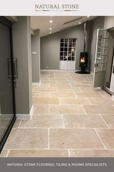 Boasting beautiful caramel tones and fossil markings, Chambolle tumbled flagstones are an extremely dense durable stone tile perfect for any interior room or high traffic areas as well as outside. The tumbled finish gives an aged flagstone appearance to the floor. You'll find all the details when you visit the website . #naturalstoneconsultancy #naturalstoneflooring #flagstones Flagstone Flooring, Limestone Flooring, Natural Stone Flooring, Natural Stone Tiles, Tiled Hallway, Hallway Flooring, Kitchen Flooring, Outdoor Paving, Outdoor Tiles