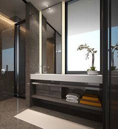 Modern bathroom design must have proper safety features to prevent accidents. These are general and specific features a bathroom needs. Bathroom Design Inspiration, Bad Inspiration, Modern Bathroom Design, Contemporary Bathrooms, Bathroom Interior Design, Bathroom Designs, Bathroom Ideas, Toilet Design, Bath Design