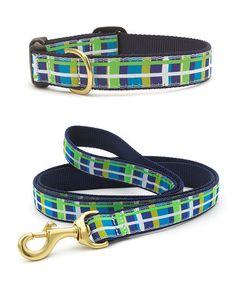 Newport Plaid Dog Collar & Leash #zulily #zulilyfinds