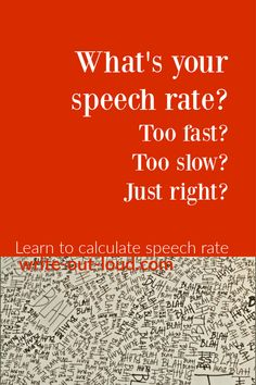 Speech rate is the number of words spoken per minute. Is yours just right, too slow or too fast? Find out how to calculate speech rate. Public Speaking Activities, Speaking Games, Public Speaking Tips, Improve Communication, Middle School Ela, Learn English, Esl, Teacher Resources, Lesson Plans