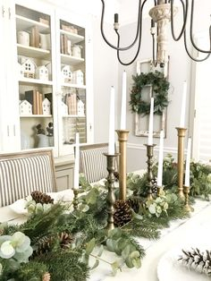 Browse hundreds of tips, tricks, and do-it-yourself guides for creating the perfect farmhouse look in your home. #christmastabledecor