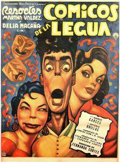 """Poster de """"Cómicos de la lengua"""" (1956), con Resortes. Tomado del libro """"Carteles de la época de oro del cine mexicano"""" (Archivo Fílmico Agrasánchez. México, 1997)."""
