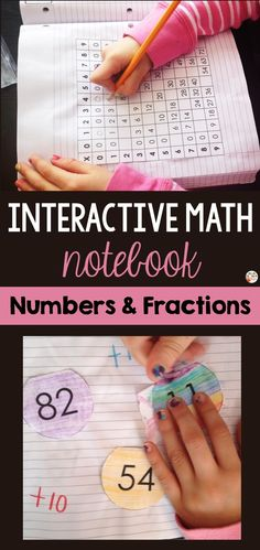 Interactive Math Notebook - Numbers and Fractions! This interactive math notebook is a valuable tool that will engage students. It's a hands-on way for kids to get involved in learning numbers and fractions. The table of contents helps organize the notebook. Math Notebooks, Interactive Notebooks, Primary Classroom, Classroom Ideas, Learning Numbers, Teaching French, Student Engagement, Educational Activities, Teaching Tips
