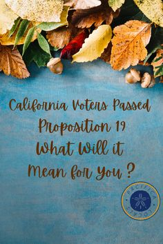 California Voters Passed Proposition 19 - What does that mean to you? Selling Your House, Meant To Be, California, Blog, Blogging
