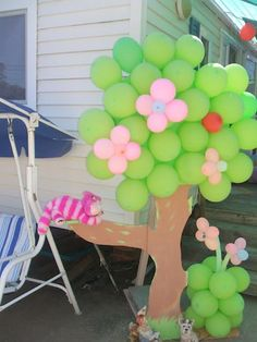 arbol de globos para fiesta!