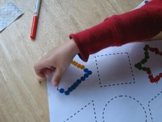 Preschool Activity: Tracing Shapes With Stickers!  Visit pinterest.com/arktherapeutic for more #finemotor ideas