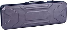 Crossrock CRA400VFGR Zippered ABS Hardshell 4/4 Full Size Oblong Violin Case - Coffee Gray