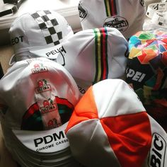 Fresh delivery of casquettes from Italy for our @eroicabritannia pop up shop. #brightenyourride #ridedifferent