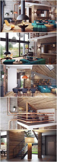 工业Loft开放式空间设计