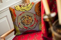Why not go for a bold statment cushion in Moselle Pistachio #barker&barker #madeinbritain