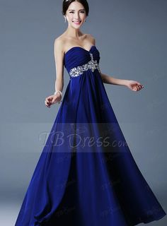 0ef8d4017b05 Elegant A-Line Sweetheart Crystal Empire Pleats Bridesmaid Dress http://www.
