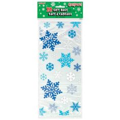 20 X Blue Christmas Snowflakes Cello Treat Loot Party Bags Favour Bags Free P&P & Garden Office Christmas Party, Christmas Bags, Christmas Snowflakes, Blue Christmas, Christmas Cookies, Christmas Treats, Christmas Time, Frozen Themed Birthday Party, Frozen Party
