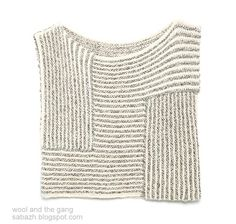 """wool and the gang™ - Sideline Top """"Sideline Top Checkers design inspiration on Fab - I think that this would be fairly easy to make in crochet"""", """"Wool Knitting Kits, Knitting Designs, Knitting Projects, Crochet Projects, Crochet Bolero, Pull Crochet, Knit Crochet, Knitting Patterns, Crochet Patterns"""