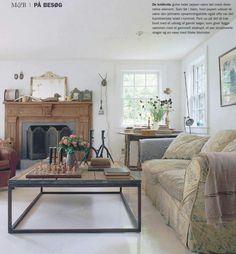 Helena Christensen's Catskills home lounge
