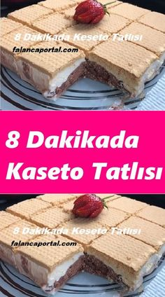 Cassette Dessert in 8 8 Dakikada Kaseto Tatlısı # Is tatlıt recipe recipes - Köstliche Desserts, Delicious Desserts, Dessert Recipes, Flaky Pastry, Mince Pies, Turkish Recipes, Popular Recipes, Pie Recipes, Cupcakes