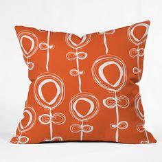 Rachael Taylor Contemporary Orange Throw Pillow - 13253-THRPI1