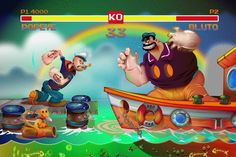 Love, LOVE, Love this Arcade Popeye illustration by Jonathan Ball. vector v's 3D on Behance