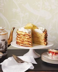 I'd love to try and make this for a breakfast or brunch party. Maybe with pancakes. Meyer Lemon Crepe Cake