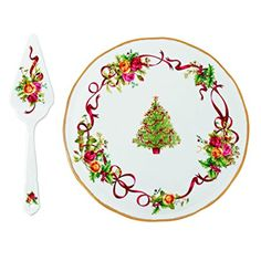 Royal Albert Old Country Roses Christmas Tree Low Cake Plate and Server Review