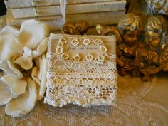 Vintage lace covered box