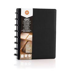 Caderno A5 Preto Couro Legítimo ARC Staples®| Staples® - Staples