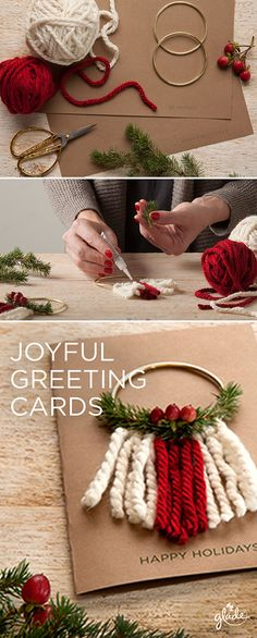 Spread joy to loved ones with unique homemade holiday cards. All you need is craft paper and a little joy to get started. Discover this and other joyful ideas to help spread the joy of the season. Feel Joy. Feel Glade.