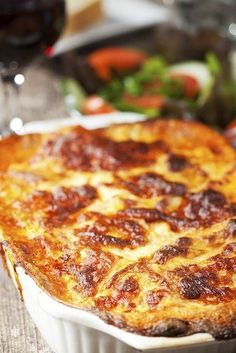 Lasagna is great for a Sunday family dinner because it feeds a crowd easily. Click here to see more recipes on Cindy's Table.