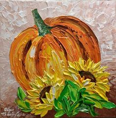 Fall Canvas Painting, Autumn Painting, Autumn Art, Pumpkin Painting, Canvas Art, Painting Abstract, Acrylic Paintings, Acrylic Art, Painting Art