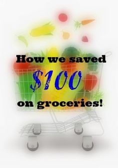 How We Saved $100 in Groceries!