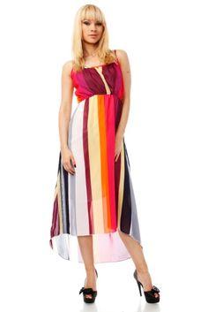 Stripes Maxi Dress via Amazing Fashion!. Click on the image to see more! Cheap Maxi Dresses, Striped Maxi Dresses, Vertical Stripes, Dress P, Croydon, Womens Fashion, Clothes, Color, Amazing