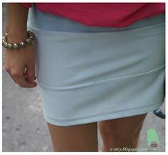 o rety! czyli zszyć, rozpruć i tak dalej... czyli blog o szyciu i przeróbkach: Bandażowa mini - czyli mój sposób na spódnicę ombre